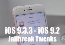 iOS 9.3.3 uyumlu tweakler