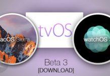 watchOS 3,tvOS 10,macOS Sierra