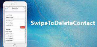 SwipeToDeleteContact Tweak
